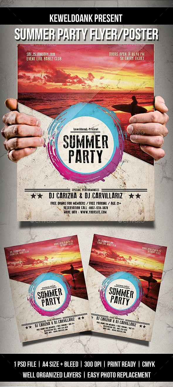 Summer Party Flyer Poster Pinterest Party Flyer Flyer