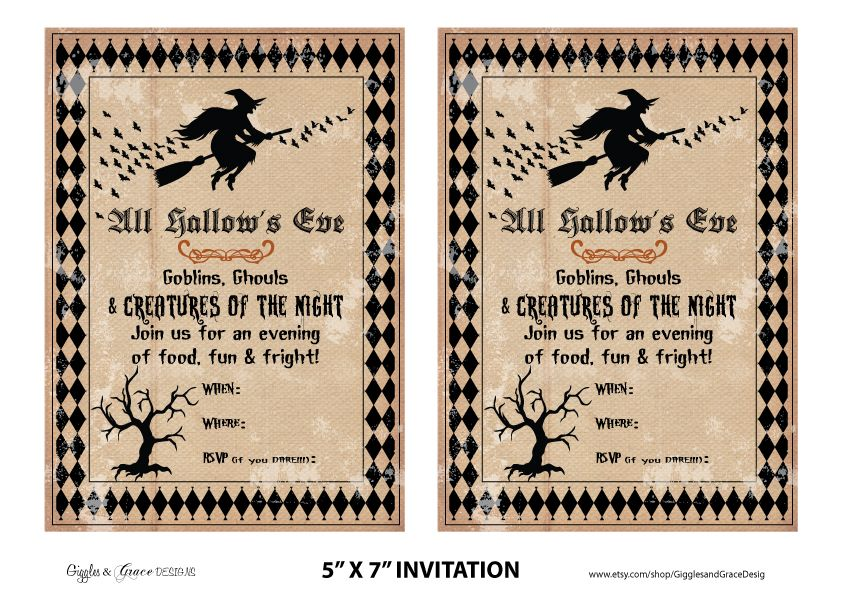free halloween party printables from giggles grace designs - Printables For Halloween