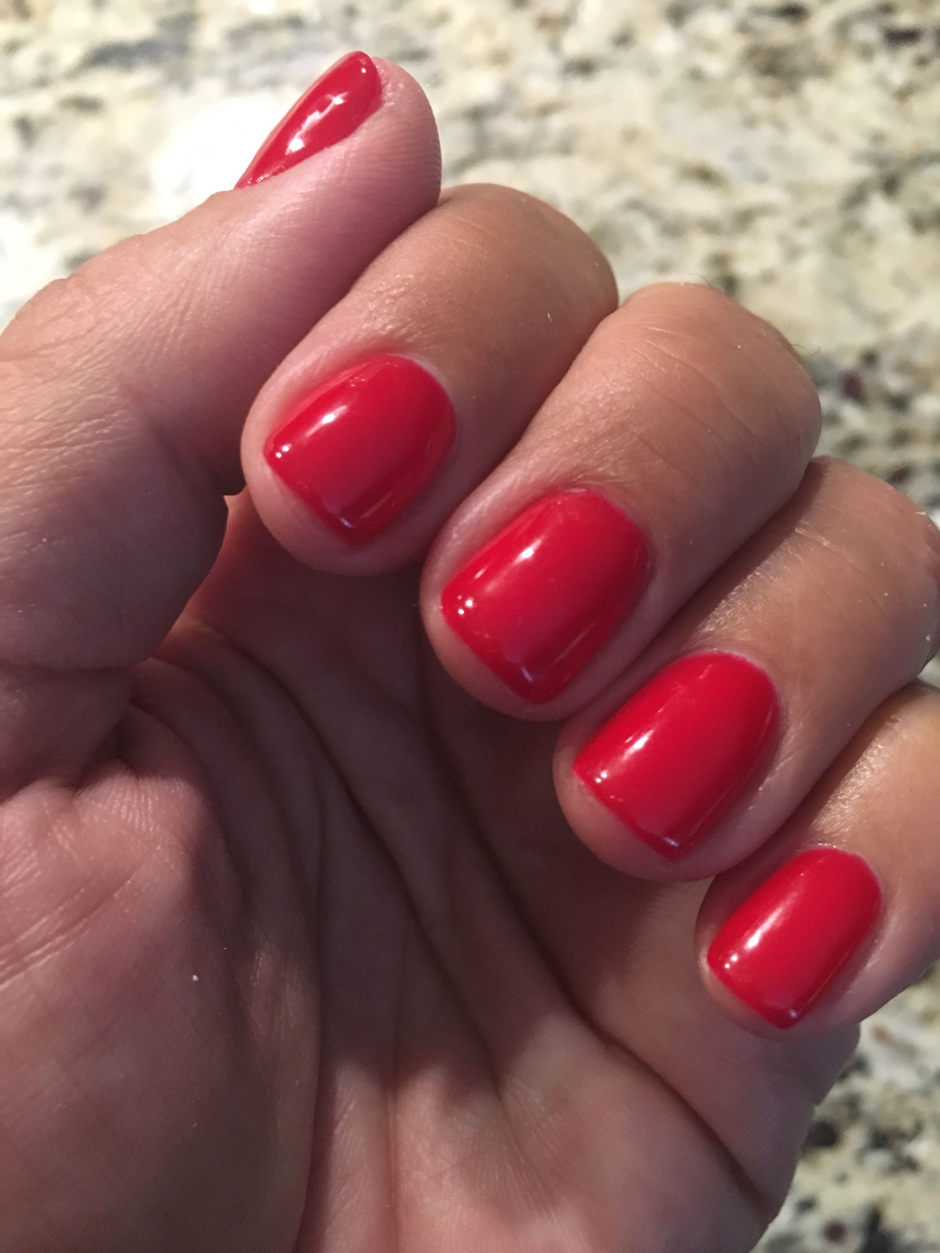 Basic Manicure Nail Care Routine: Opi Gel Nails, Red Gel Nails