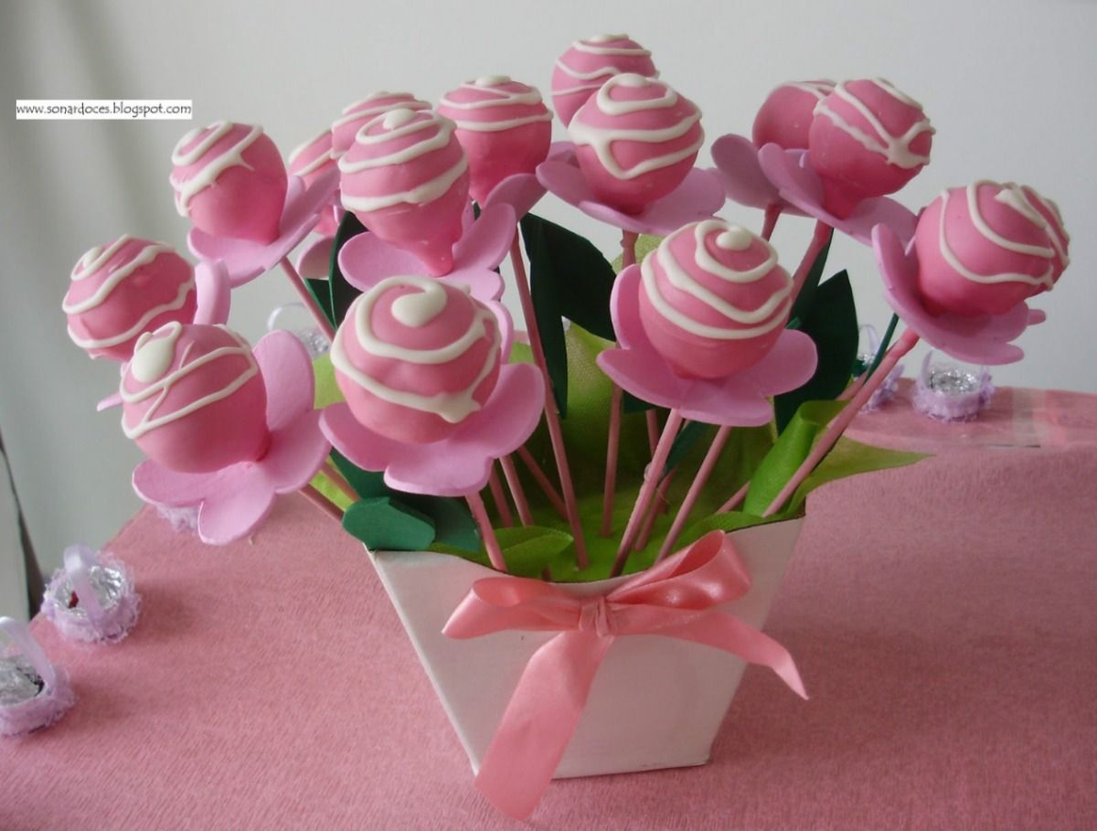 wedding cake pops centerpieces - Google Search | Unique Everything ...