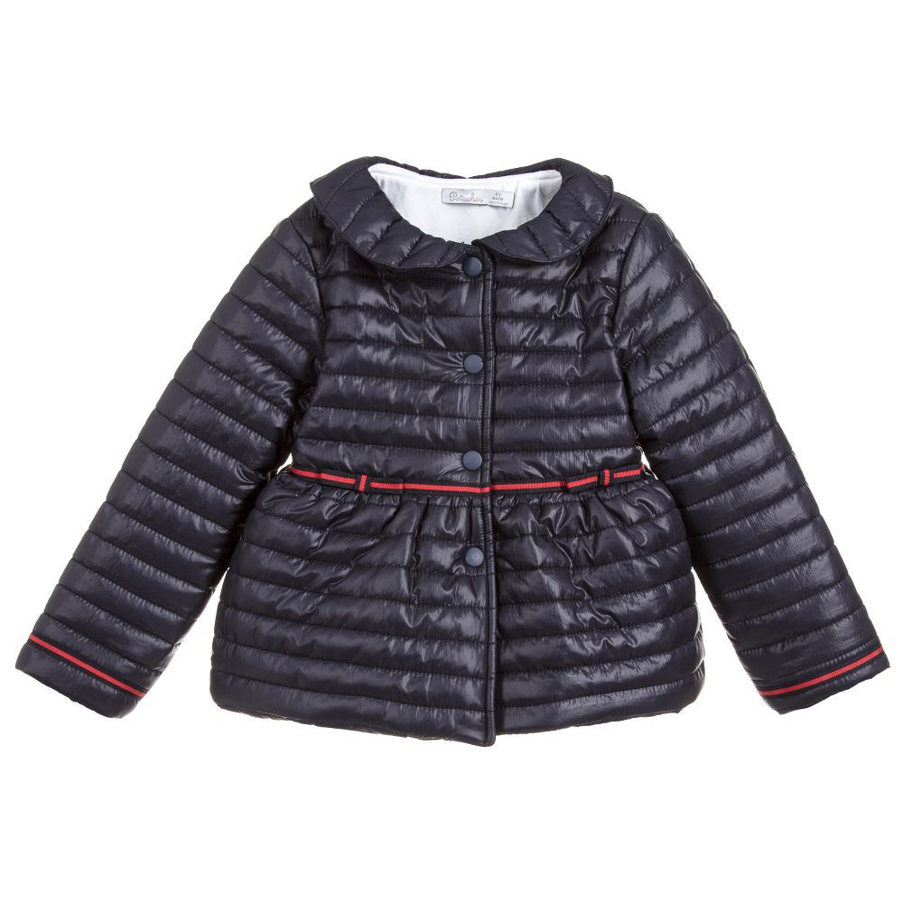 c1a385c26 A blue puffer jacket for girls by Patachou, made from soft smooth polyester  with a