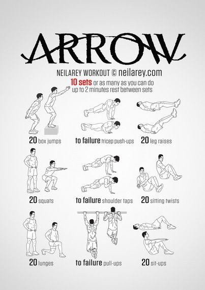 Train Like A Superhero Literally Superhero Workout Arrow Workout Workout