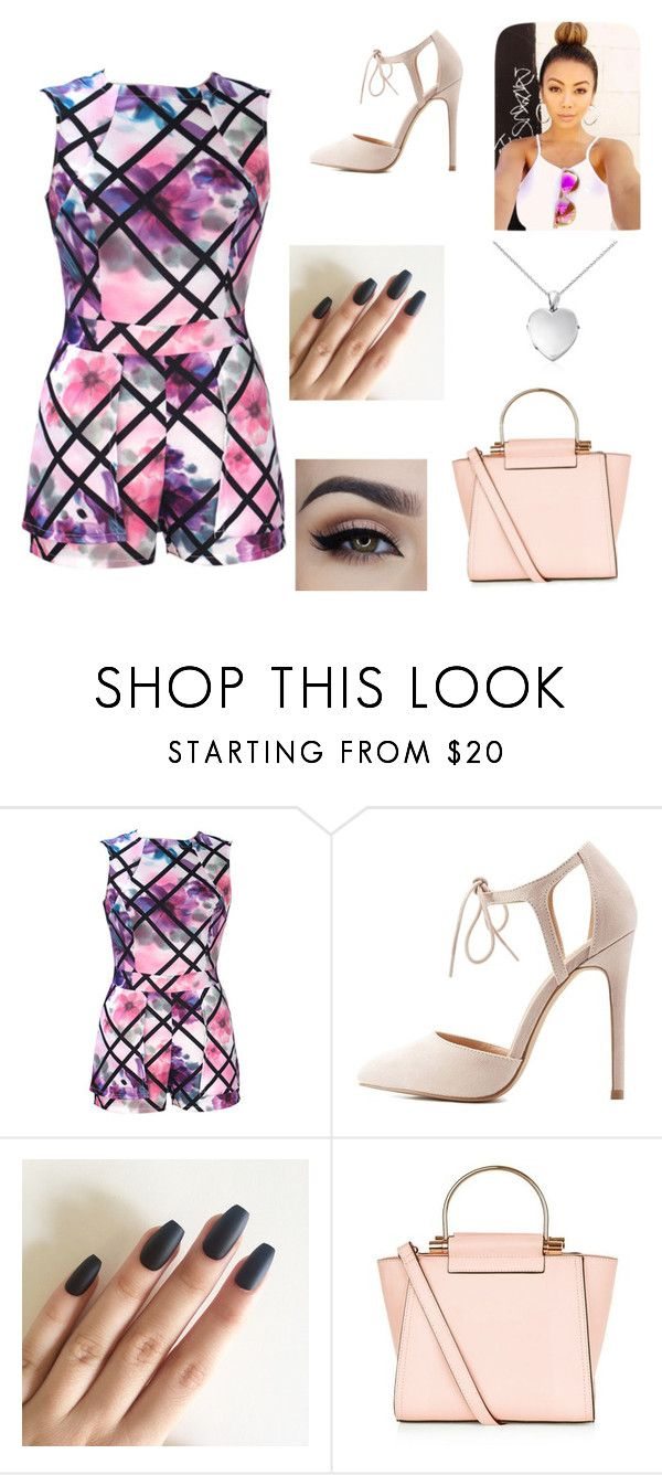 """Floral "" by malihaakhtar ❤ liked on Polyvore featuring Charlotte Russe, New Look and Blue Nile"