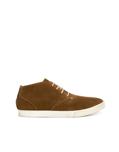 LEATHER DESERT BOOT - Boots and ankle boots - ZARA