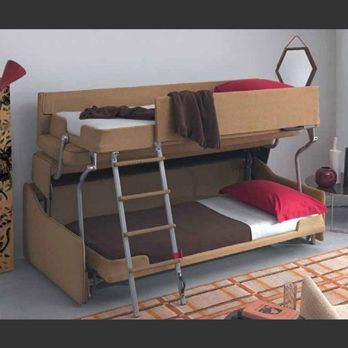 Nice Palazzo (from Resource Furniture)   This Fully Upholstered Transforming Sofa  Bunk Bed Has A Full Barrier Around The Top Bunk And Locking Points In U2026