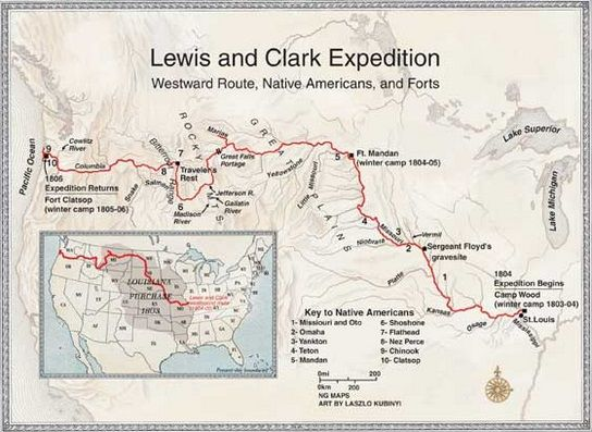 lewis and clark expedition map resources for eleni  lewis and clark expedition map