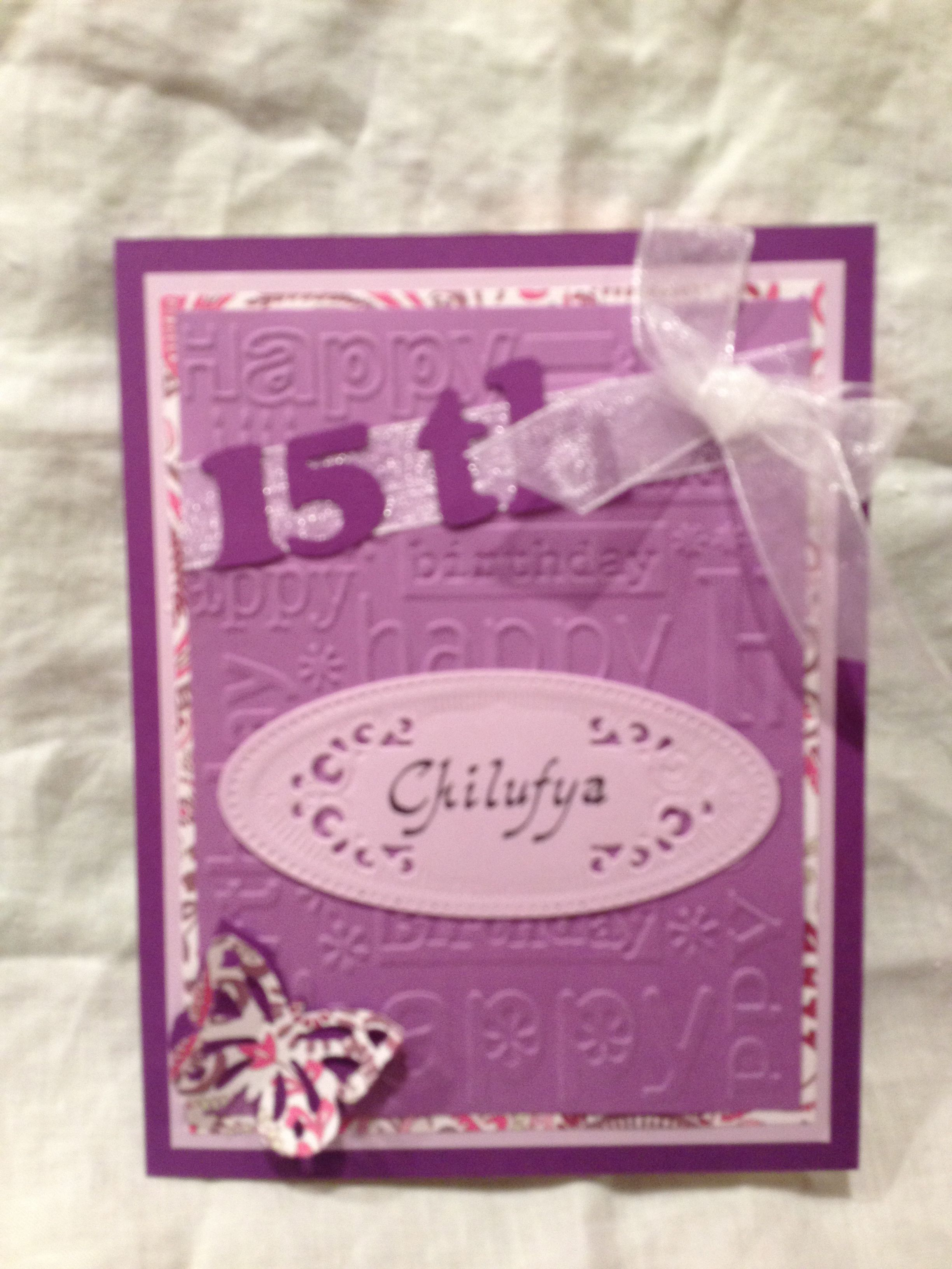 Personalized Birthday Card For A 15 Year Old My Designs