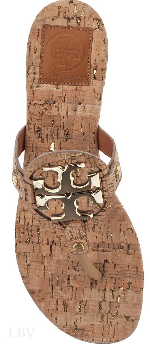 29f5e5d0c Tory Burch MILLER 2 THONG SANDAL NATURAL CORK --- If you ve never tried  cork try it.... you will fall in love....again.