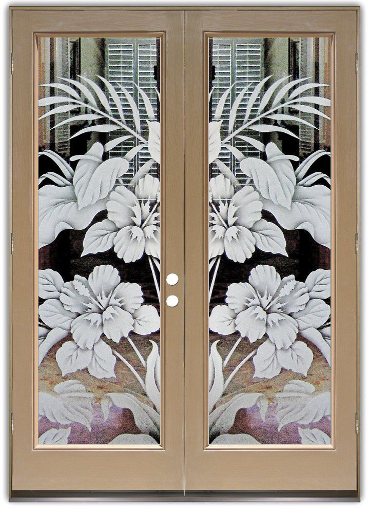 Hibiscus Calla Lilies 2d Gl Doors