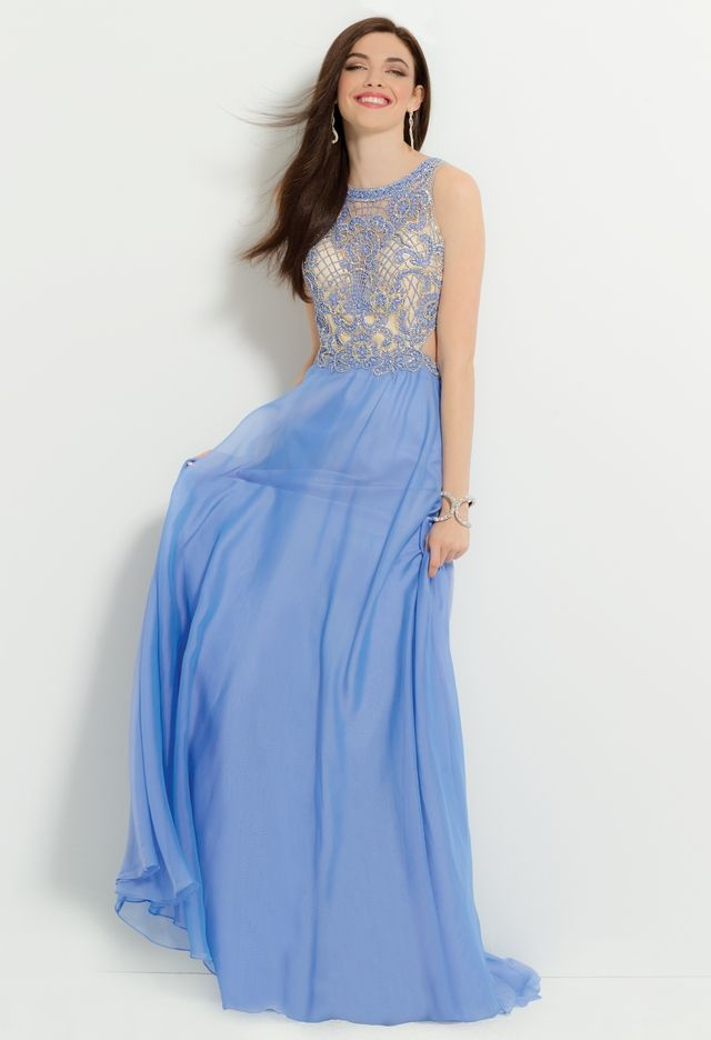 Chiffon Dress with Beaded Bodicefrom Camille La Vie and Group USA ...