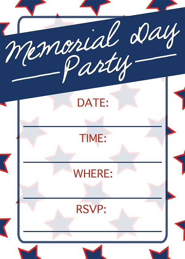 memorial day invitation top party holiday ideas pinterest