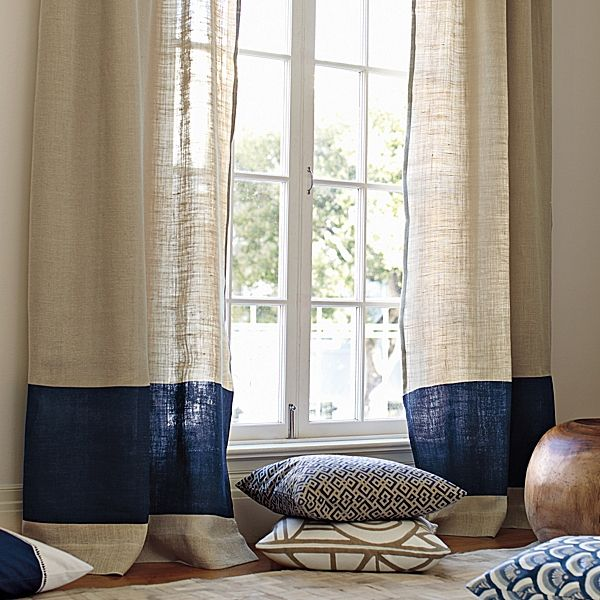 Sandy Beige And Navy Blue Accent
