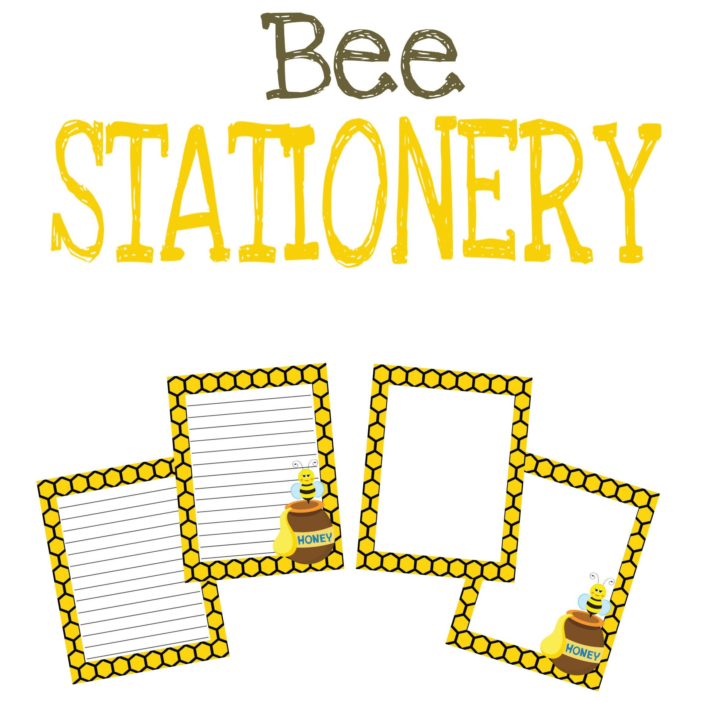 Bee Stationery Printable Worksheet Classroom Newsletters
