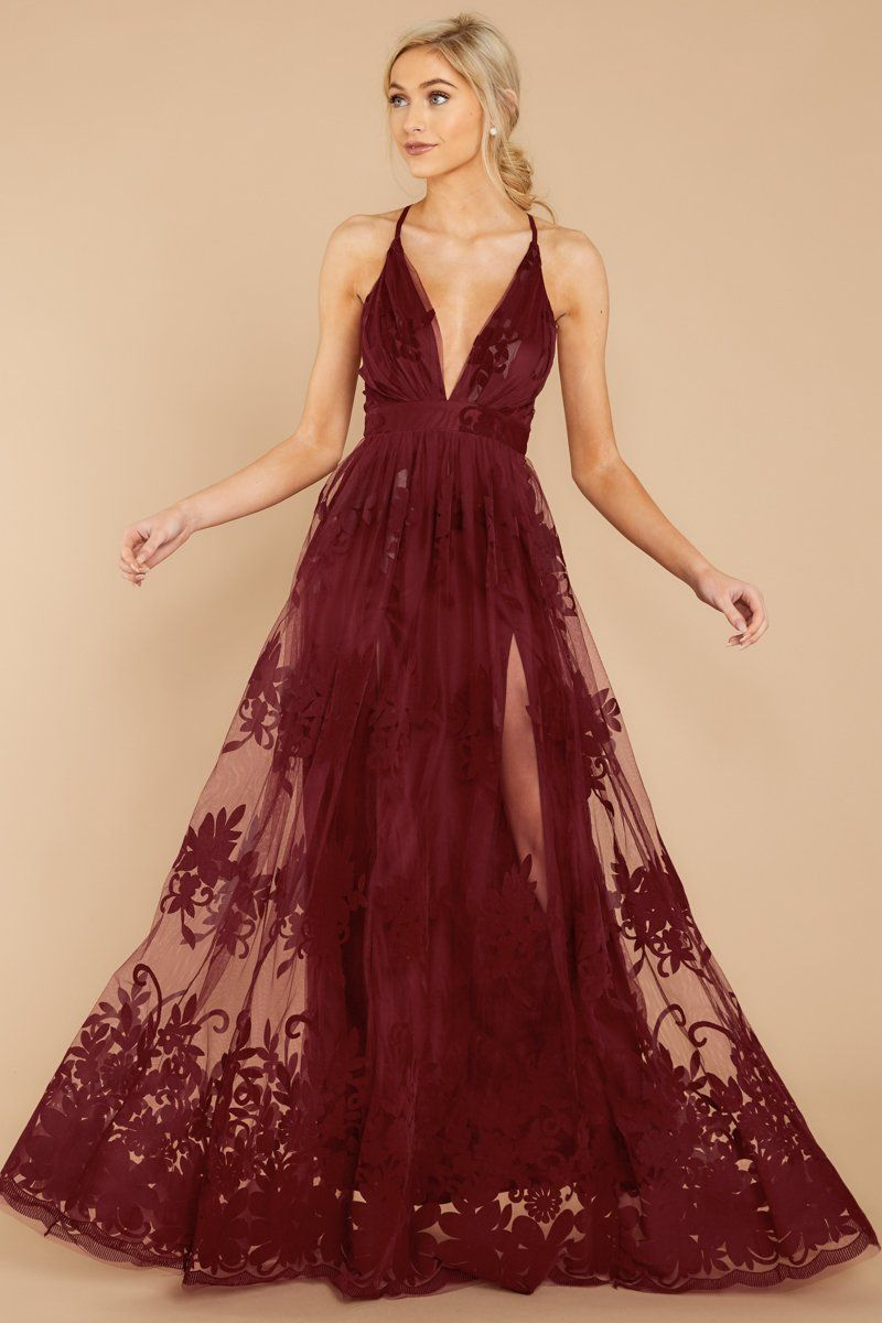 Stunning Burgundy Tulle Gown Formal Red Maxi Dress Dress 68 00 Red Dress Boutique Burgundy Maxi Dress Burgundy Gown Burgundy Dress [ 1200 x 800 Pixel ]