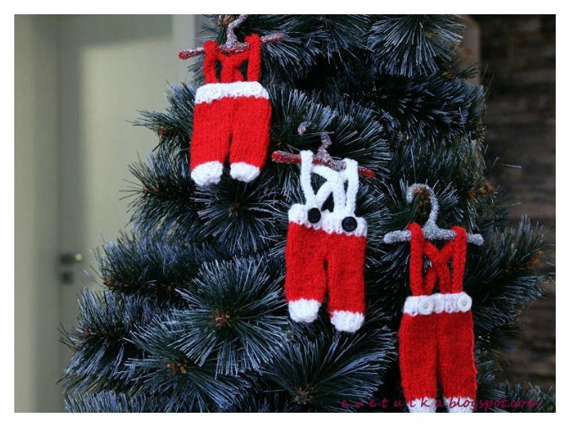 Tiny Santa Pants Ornament Free Knitting Pattern Christmas Knitting Patterns Christmas Knitting Patterns Free Christmas Knitting