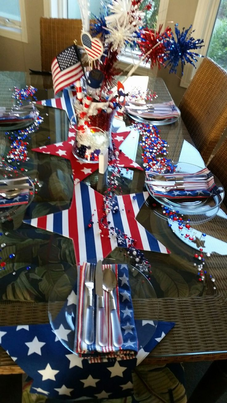 I just want some glasses for the table. Table runner from ...