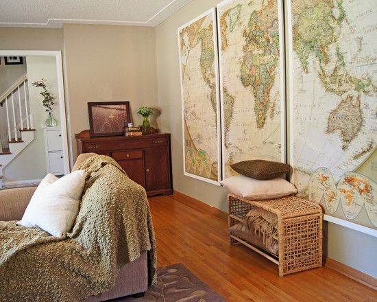 World Map Mural Wallpaper Design Pictures Remodel Decor And Ideas