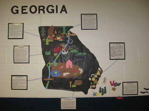Regions And Habitats Of Georgia Georgia Habitats Rd Grade - Georgia map games