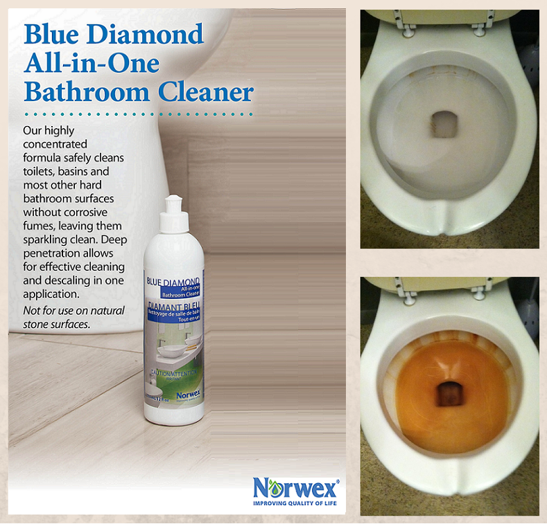 Norwex Cleaning Products: Norwex Blue Diamond All In One Bathroom Cleaner Versus