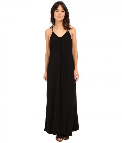 Michael Stars - Modern Rayon Maxi Slip Dress (Black) Women's Dress