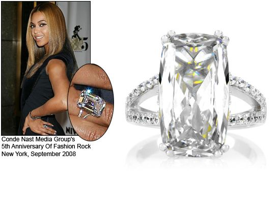 Celebrity Style Jewelry Beyonce S Engagement Ring Celebrity