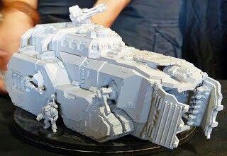 Sneak peek at forge world space marine mastodon super tank for space marines