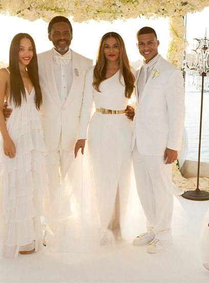You Have To See The Photos Beyonce Shared Of Her Mom S Magical Wedding Tina Knowles Wedding Suits Wedding Suits Men