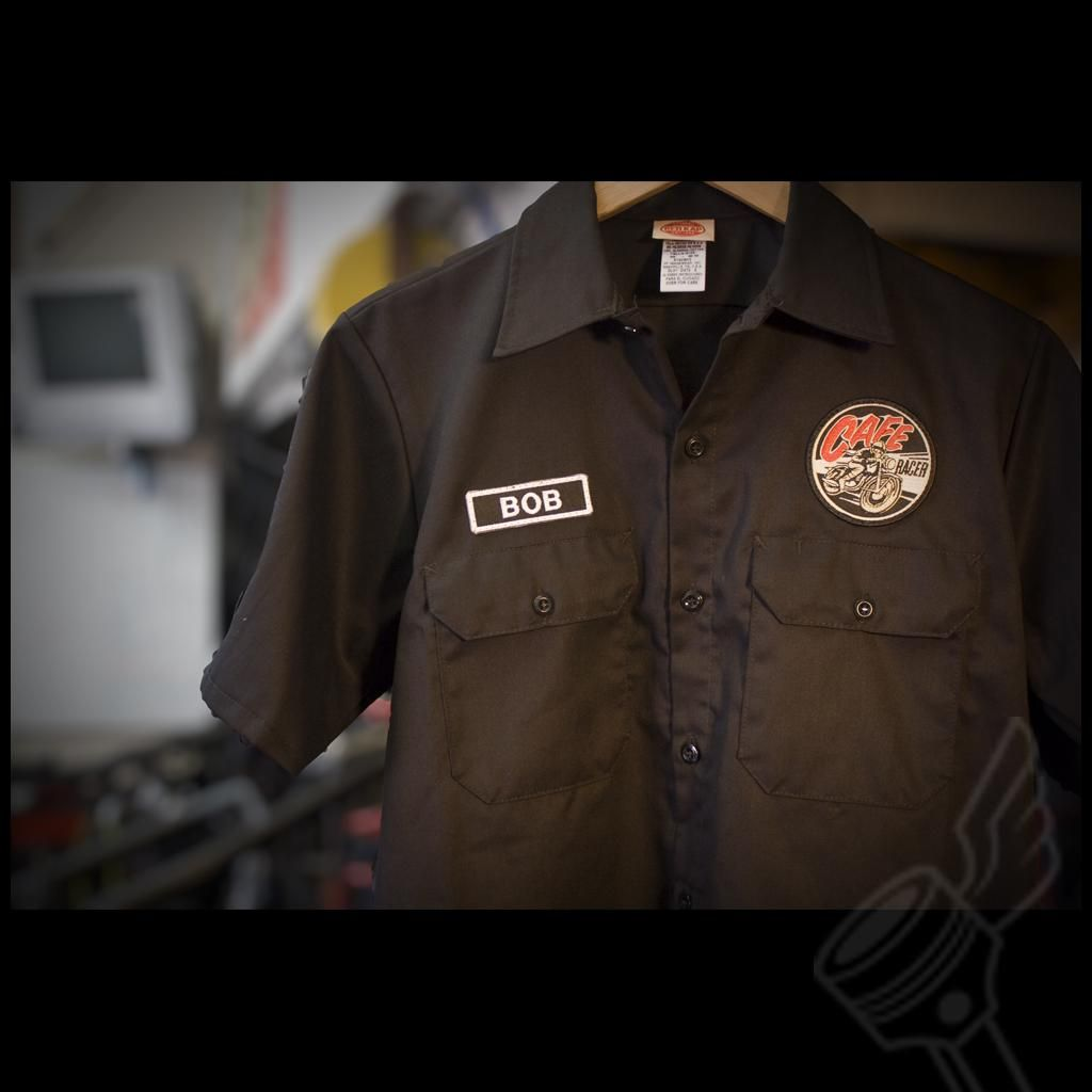 Official Cafe Racer Personalized Button Down Work Shirt