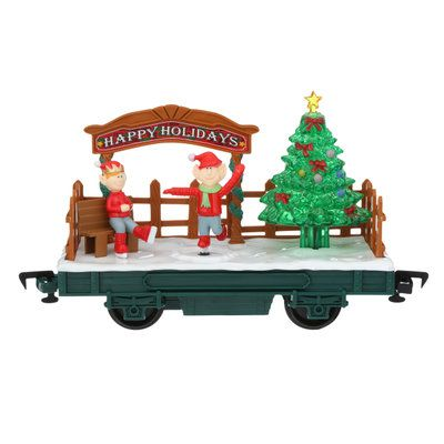 Eztec Battery Operated Wireless Remote Control North Pole Express Christmas Train Set 37297 The Home Depot Christmas Train Set Christmas Train Christmas Tree Train