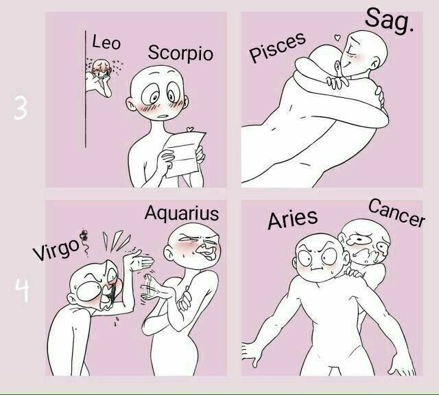 Zodiac Signs - The Signs in Draw your Squad Memes pt.2