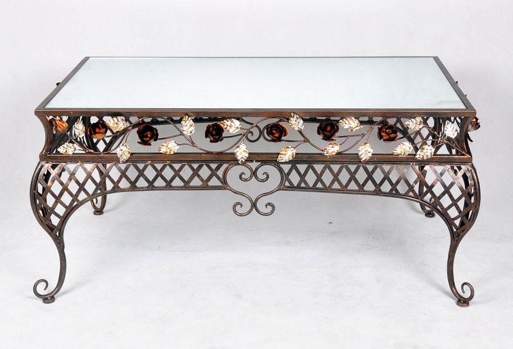 Wrought Iron Coffee Table With Mirror Top Zheleznyj Stol Dizajn Stola Dizajn Doma Dekor