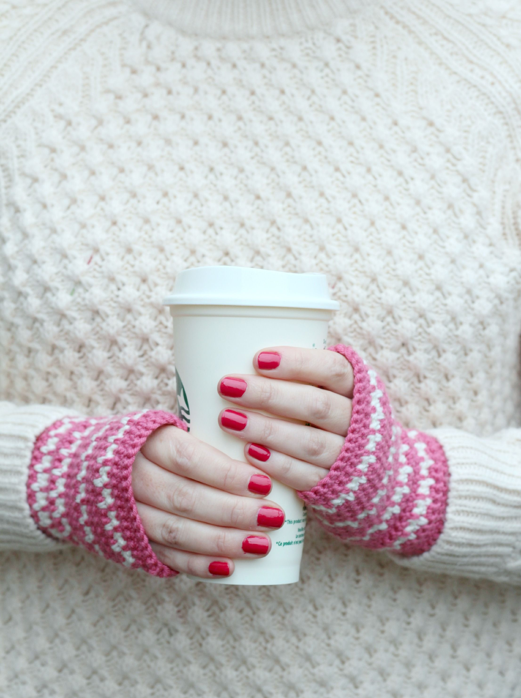 Spike Stitch Crochet Handwarmers Pattern -   Guantes, Guantes ...
