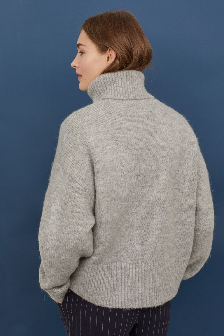 405af03c Knitted polo-neck jumper | Shopping list | Polo neck, Turtle neck ...
