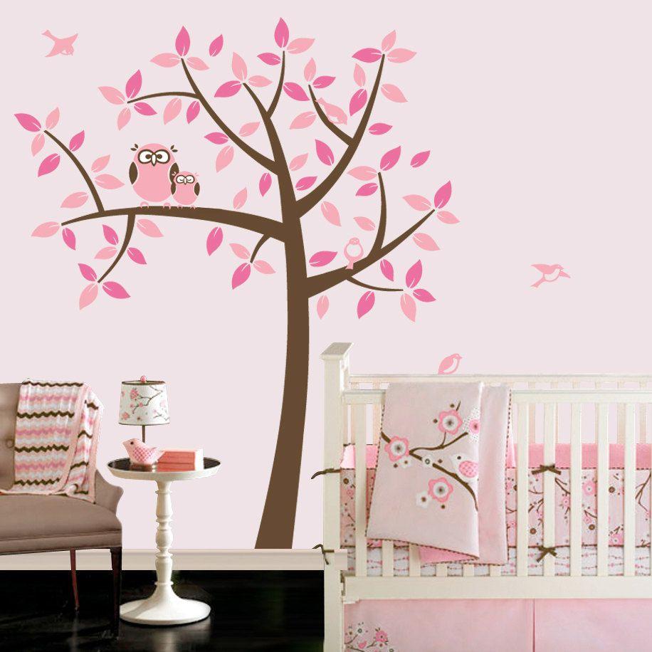 Owl Tree Girl Baby Owl Nursery Theme Nursery Wall