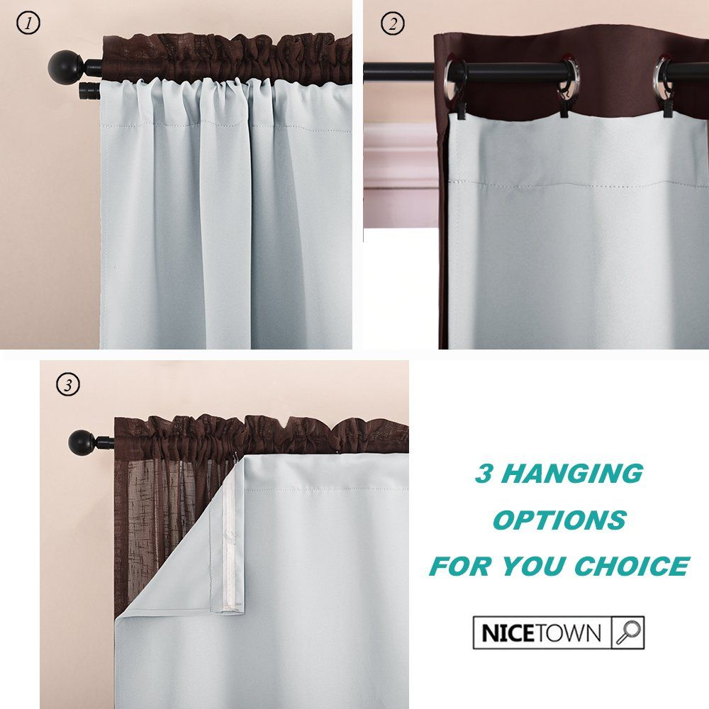 Nicetown White Blackout Curtain Liners For Window Noise Reducing Light Blocking Liner For 84 Inch Curtains Insulated Curtains Curtains White Blackout Curtains