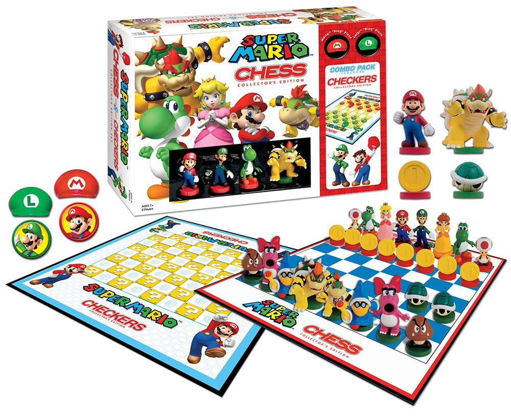 Pin By The Op Games Usaopoly On Fanatics Nintendo Videogames Super Mario Brothers Super Mario Checkers Board Game