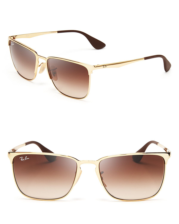 ray ban gold  ray ban highstreet metal wayfarer sunglasses in gold (arista gold)