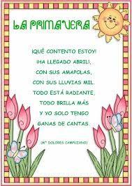 Poemas Cortos Para Ninos Que Rimen 1 Poemas De Primavera Poemas De Primavera Para Ninos Poesia De La Primavera