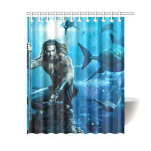 Aquaman Dc Marvel Avengers Bathroom Waterproof Shower Curtain Is Waterproof Polyester Fabric Shower Curtain Images Imprinted Using H Curtains Marvel Avengers
