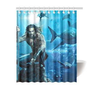 Aquaman Dc Marvel Avengers Bathroom Waterproof Shower Curtain Is