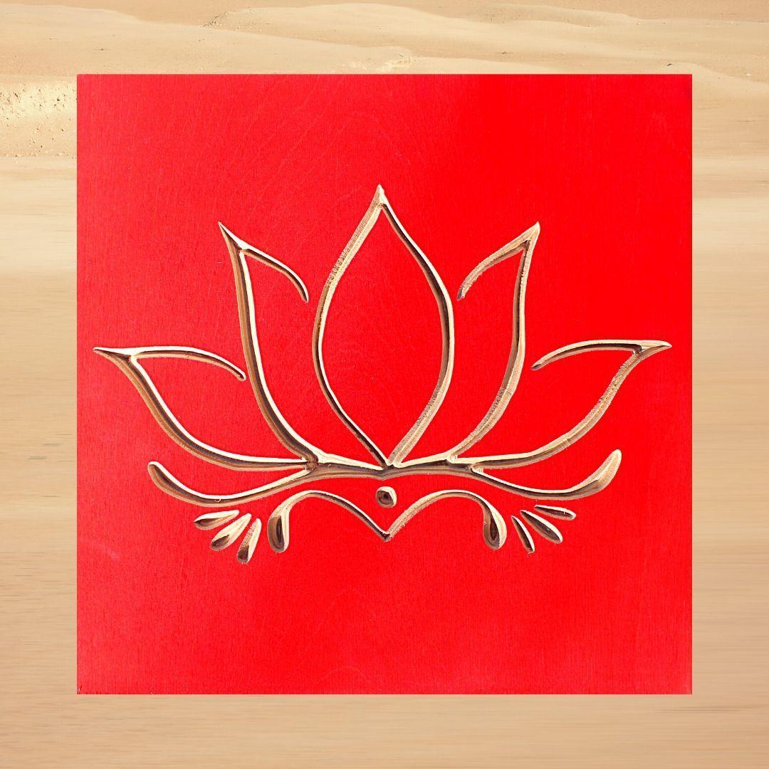 Photo of Lotus Flower – Scarlet Red