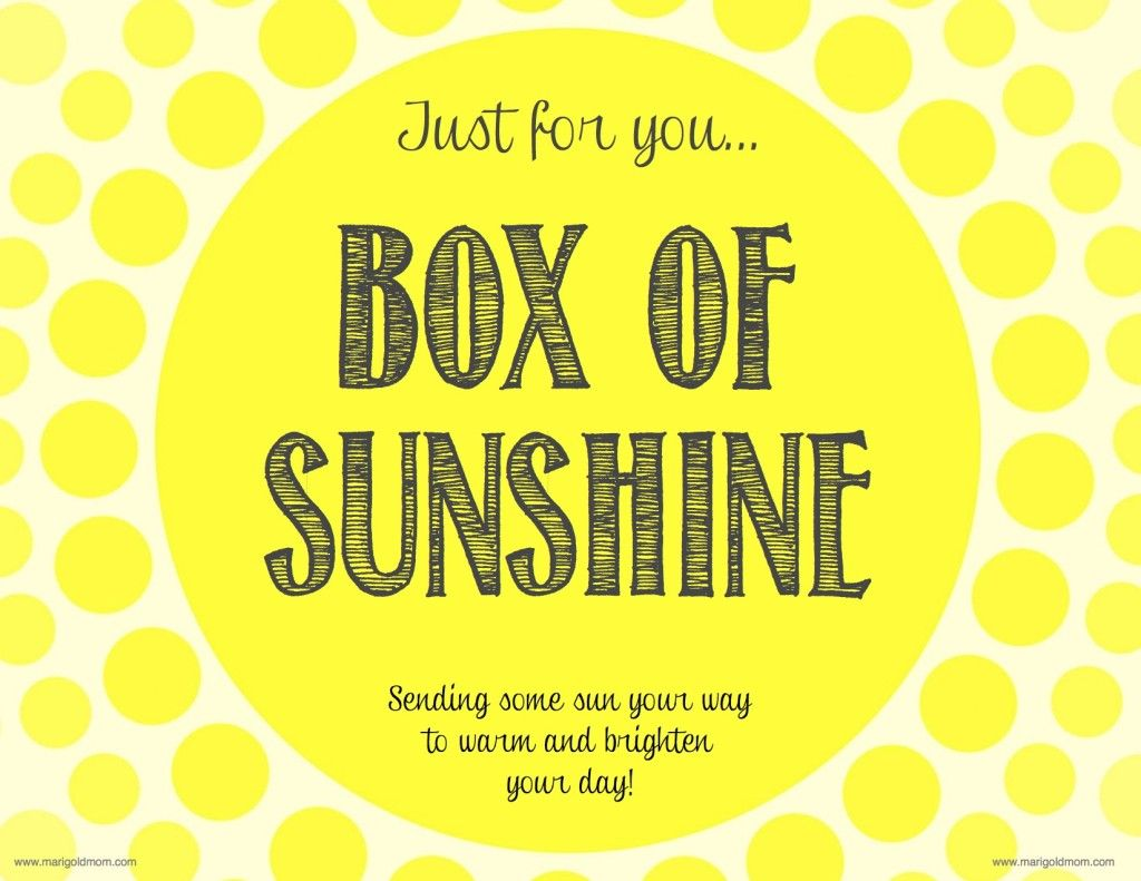 I Have Had Multiple Request For The Printables I Designed For One Of My Boxes Of Sunshine And