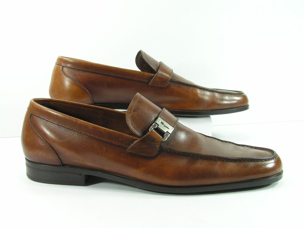 Los Altos Men/'s Brown Genuine Teju Lizard Dress Shoes Casual Slip On Loafer EE