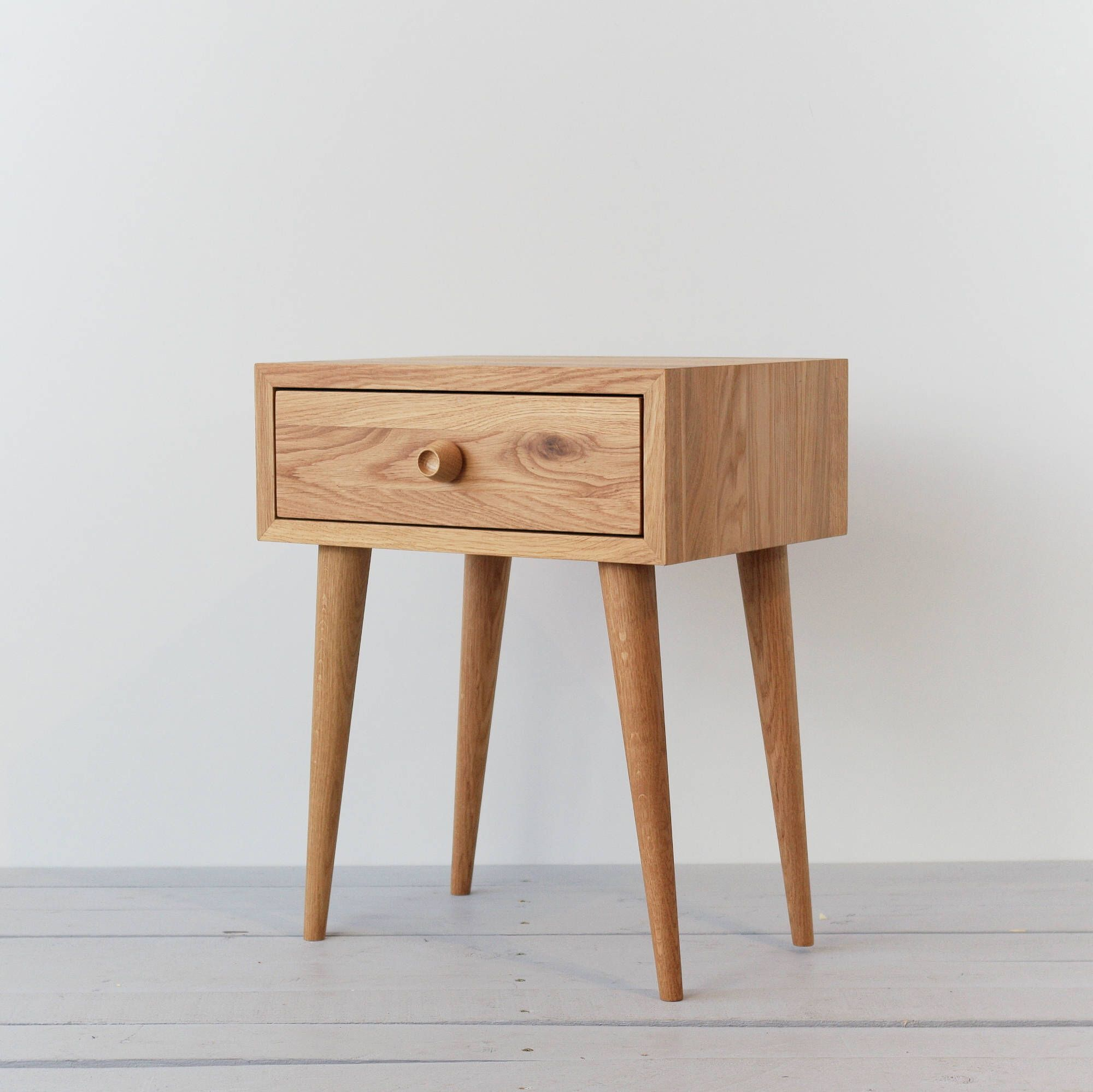 Best Solid Oak Nightstand Natural Oiled Table With Drawer Mid 400 x 300