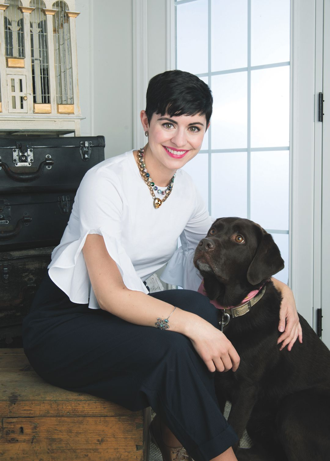 Posing With My Dog in The Sabika Spring Look Book is part of Posing With My Dog In The Sabika Spring Look Book - Posing With My Dog in The Sabika Spring Look Book  Check out Lucy and I modeling in a jewelry catalog  I linked up our Spring looks!