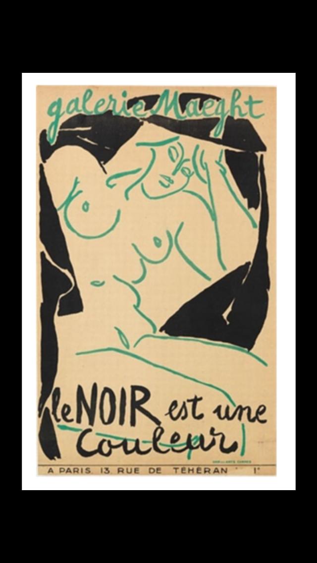 Henri Matisse   Galerie Maeght   Le Noir est une couleur, 1946
