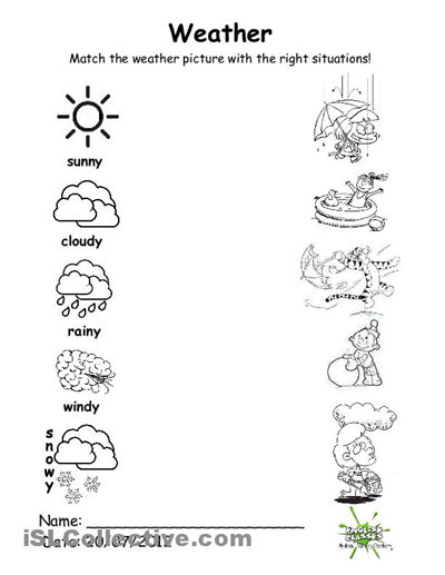 Weather Worksheets For Kindergarten | ABITLIKETHIS | Роздруковування ...