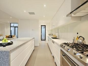 French Provincial Single Line Kitchen Design Using Laminate Kitchen Photo 111785