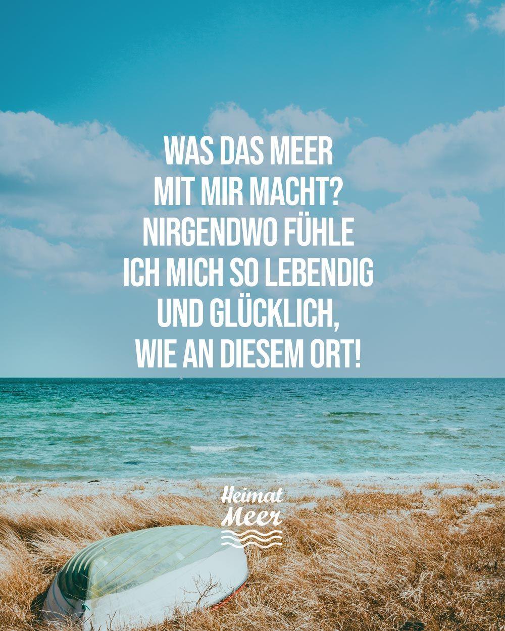 Was Das Meer Mit Mir Macht Mee H R Heimatmeer Spruche Zitate