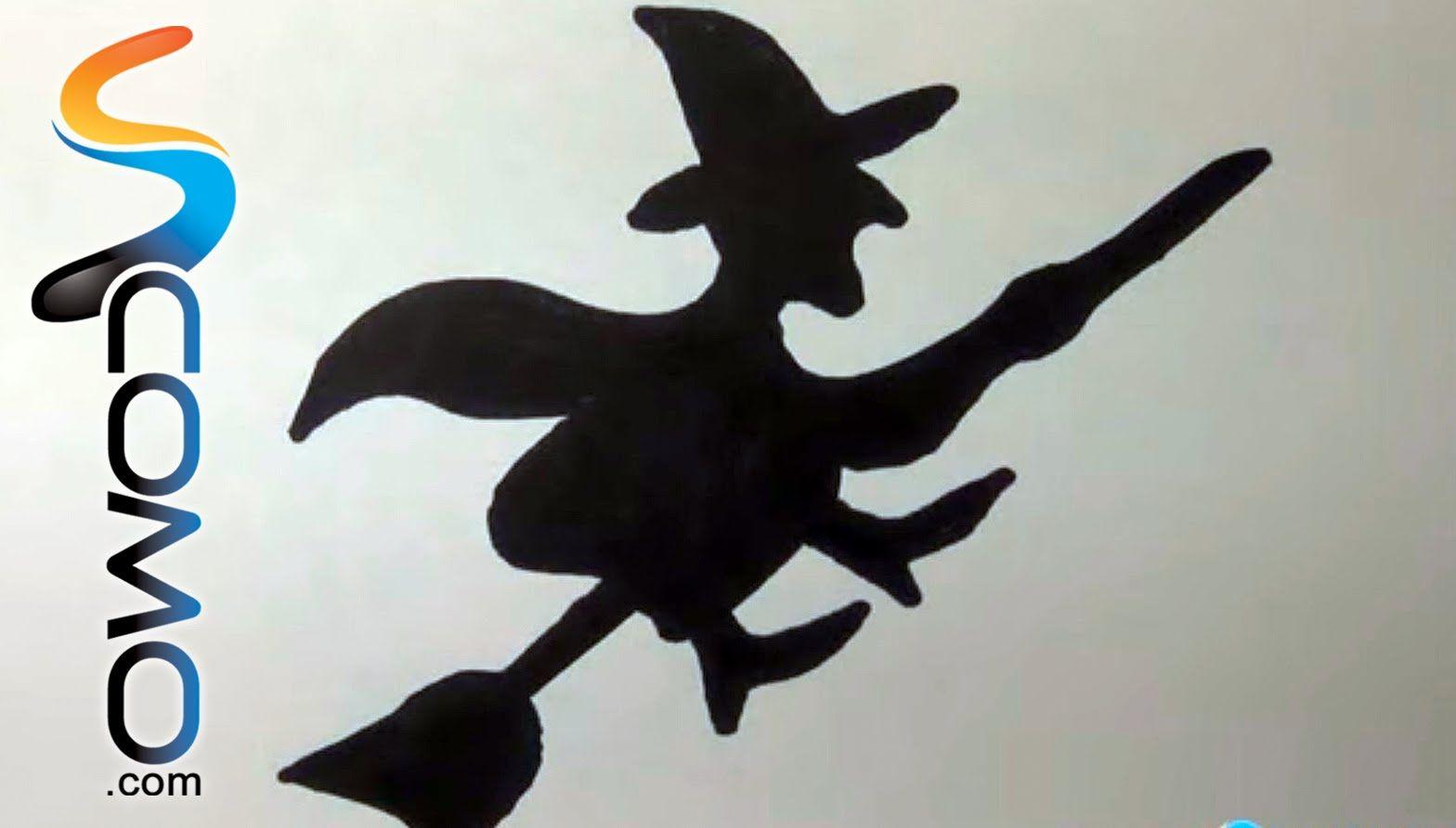 Cómo dibujar la silueta de una bruja  7a8d0884385